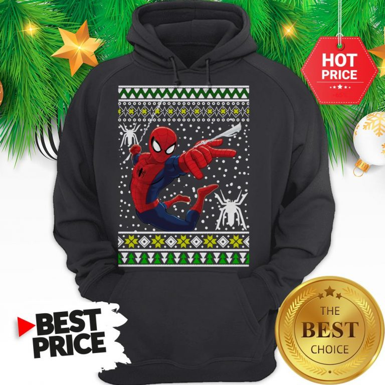 Amazing Spider Man Ugly Christmas Hoodie