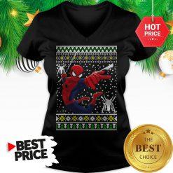 Amazing Spider Man Ugly Christmas V-Neck