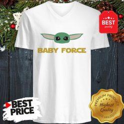 Baby Yoda Force Star Wars A Good V-Neck