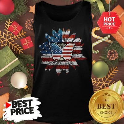 Butterfly And Flag Sunflower America Tank Top