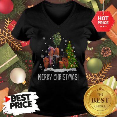 Carrots Family Merry Christmas V-Neck