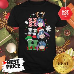 Cute Eeyore Ho Ho Ho Christmas Shirt