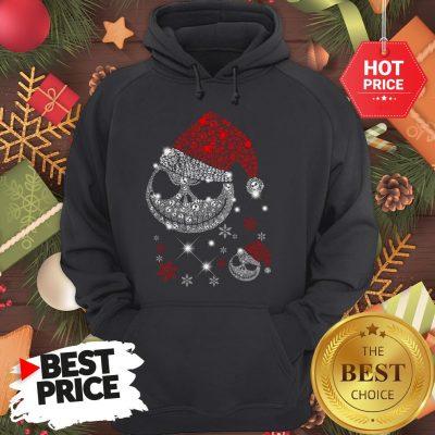 Diamond Santa Claus Skull Christmas Funny Hoodie