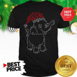 Elephant Christmas Lights Merry Christmas Santa Shirt