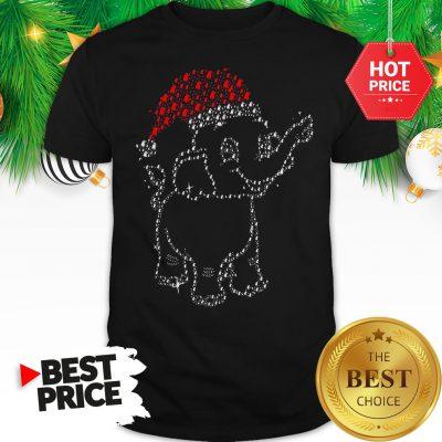 Elephant Christmas Lights Merry Christmas Santa Shirt