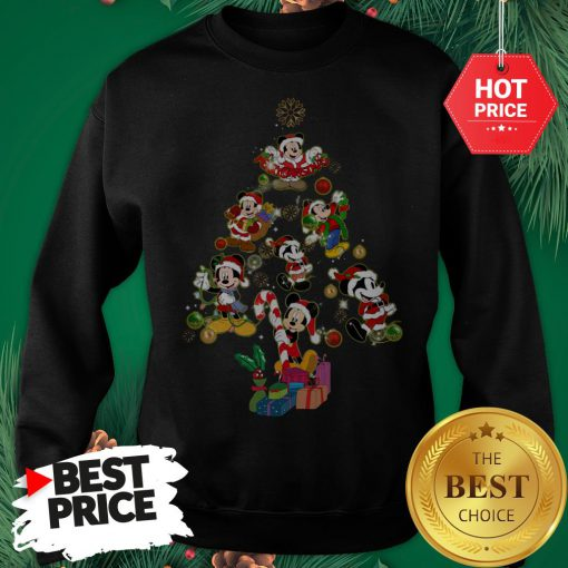 Mickey Mouse Christmas Tree Sweatshirt
