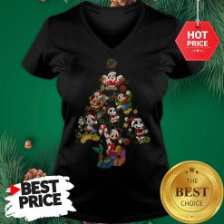 Mickey Mouse Christmas Tree V-Neck