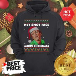 Official Drop Dead Fred Hey Snot Face Merry Christmas Ugly Christmas Hoodie