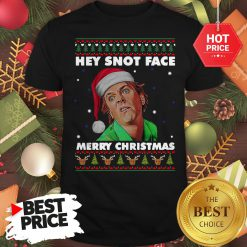 Official Drop Dead Fred Hey Snot Face Merry Christmas Ugly Christmas Shirt