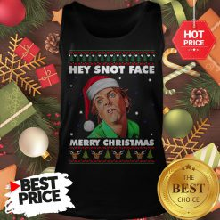 Official Drop Dead Fred Hey Snot Face Merry Christmas Ugly Christmas Tank Top