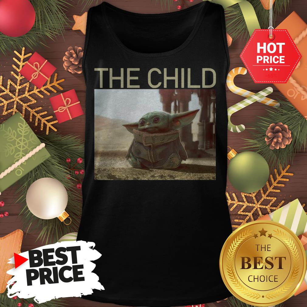 Official Funny The Mandalorian Baby Yoda The Child Tank Top