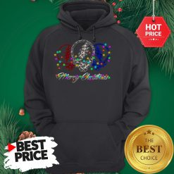 Official Grateful Dead Leopard Buffalo Plaid Merry Christmas Hoodie