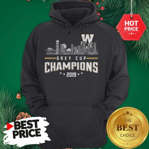 Official Grey Cup Champions 2019 Hoodie