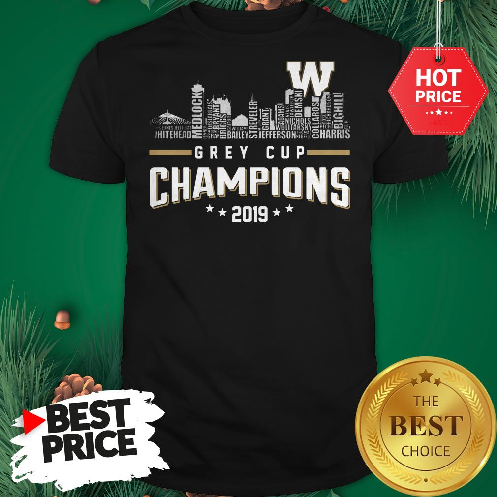 Official Grey Cup Champions 2019 Shirt