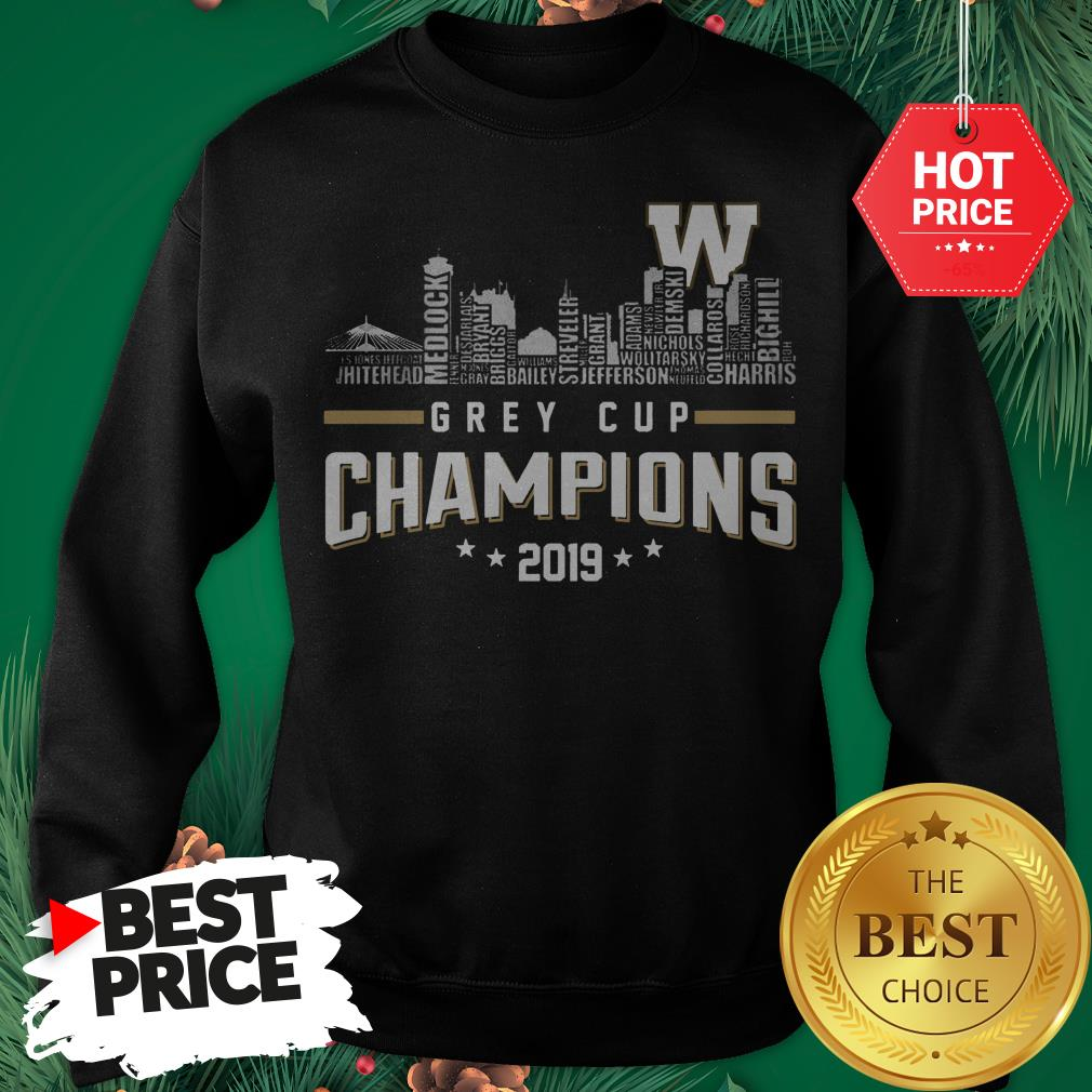 Official Grey Cup Champions 2019 Sweatshirt