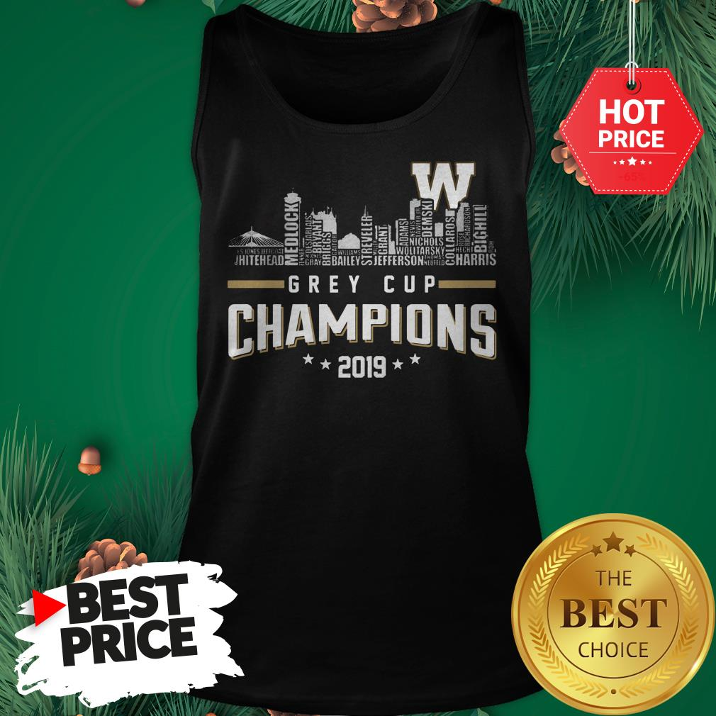 Official Grey Cup Champions 2019 Tank Top