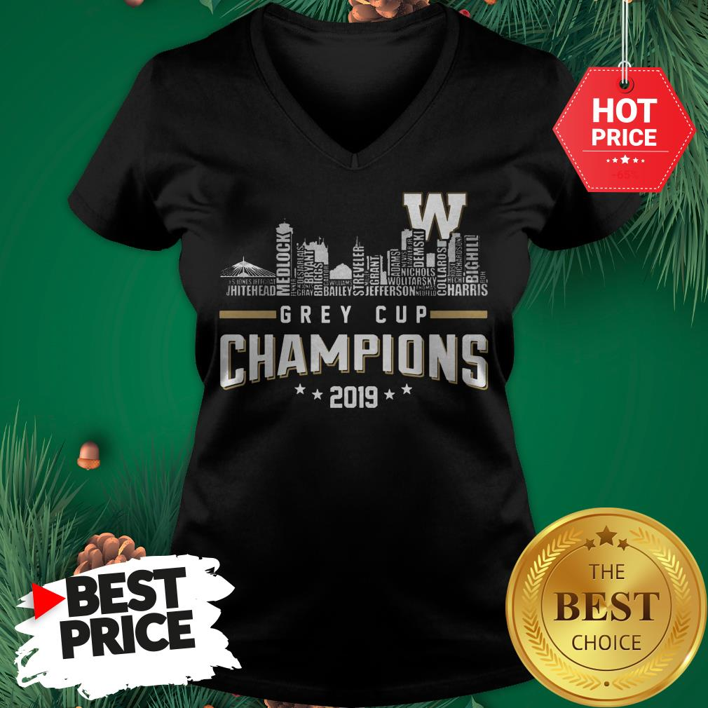Official Grey Cup Champions 2019 V-neck