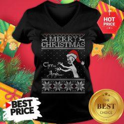Official Merry Christmas Mutant Enemy Grr Argh V-Neck