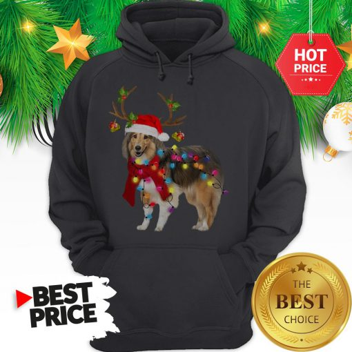 Official Sheltie Gorgeous Reindeer Light Christmas Hoodie