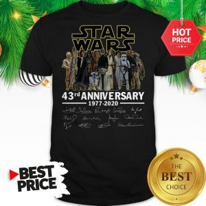 Official Star Wars 43rd Anniversary 1977-2020 Signatures Shirt