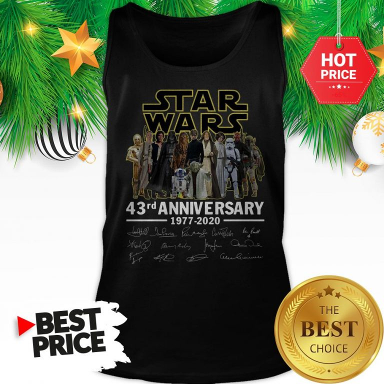 Official Star Wars 43rd Anniversary 1977-2020 Signatures Tank Top