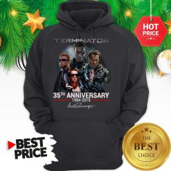 Official Terminator 35th Anniversary 1984-2019 Signature Hoodie
