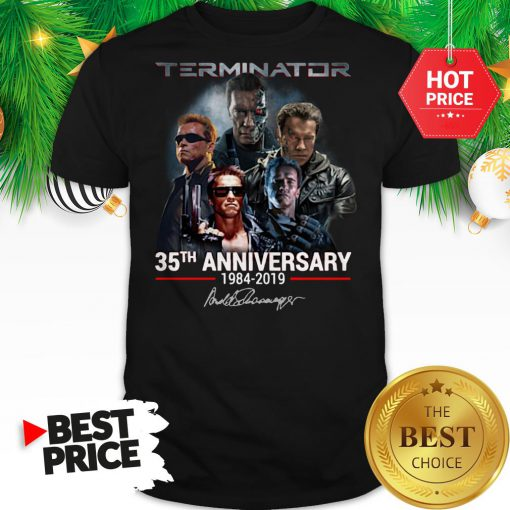 Official Terminator 35th Anniversary 1984-2019 Signature Shirt