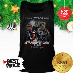 Official Terminator 35th Anniversary 1984-2019 Signature Tank Top