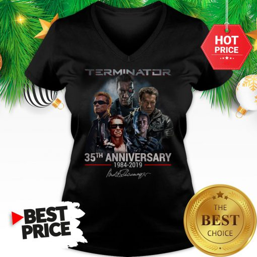 Official Terminator 35th Anniversary 1984-2019 Signature Official Terminator 35th Anniversary 1984-2019 Signature Tank Top