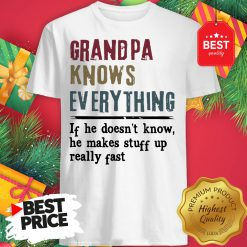 Official Uncle Knows Everything If He Doesn't Know He Makes Stuff Up Really Fast Shirt