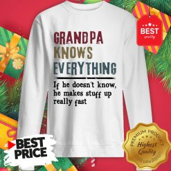 Official Uncle Knows Everything If He Doesn't Know He Makes Stuff Up Really Fast Sweatshirt