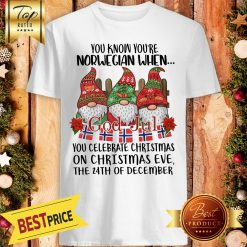 Official You Know You're Norwegian When God Jul You Celebrate Christmas Shirt