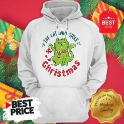 Pretty The Cat Who Stole Christmas Holiday Purresents Cartoon Funny Hoodie