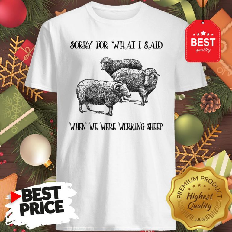 Really Sorry For What I Said When We Were Working Sheep Shirt