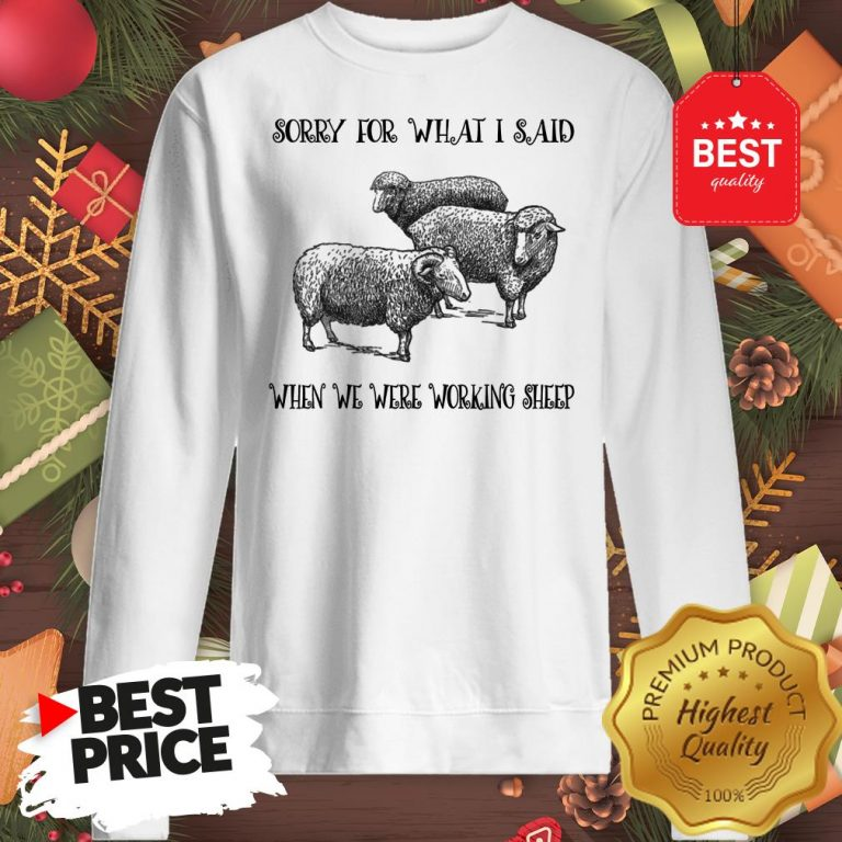 Really Sorry For What I Said When We Were Working Sheep Sweatshirt