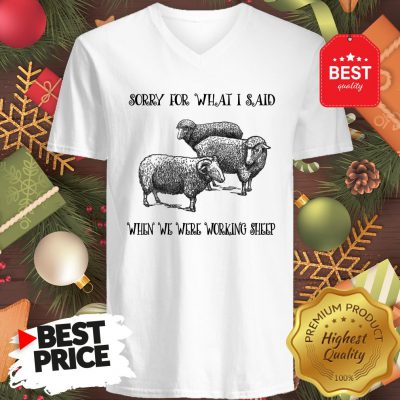 Really Sorry For What I Said When We Were Working Sheep V-Neck