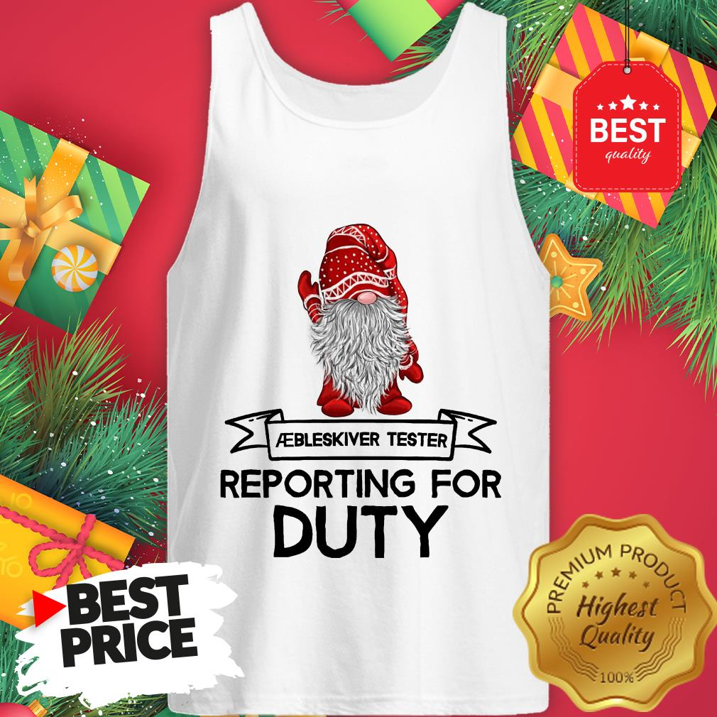 Reporting For Duty Gnomes Christmas Tank Top