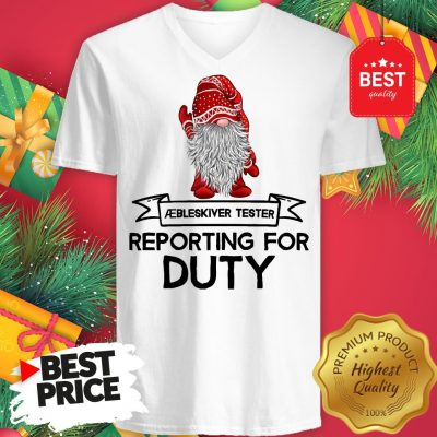 Reporting For Duty Gnomes Christmas V-Neck