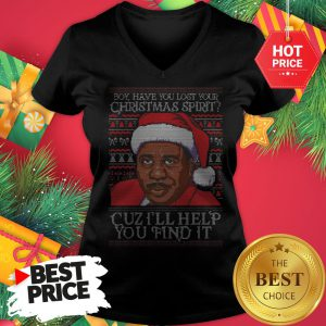 Santa Steve Harvey Boy Have You Lost Your Christmas Spirit Cuz I'll Help You Find It V-Neck