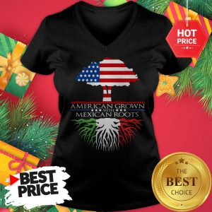 American Grown with Mexican Roots V-Neck