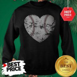 Baseball Heart Distressed Gift For Baseball Mom Sweatshirt