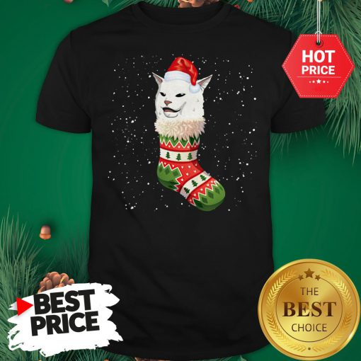 Cat Ugly Christmas Cat In Stocking Ugly Christmas Kids Shirt