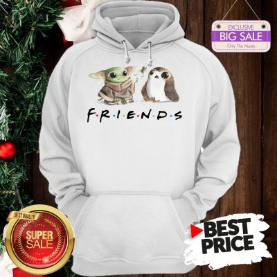 Funny Baby Yoda Frog And Penguin Friends Hoodie