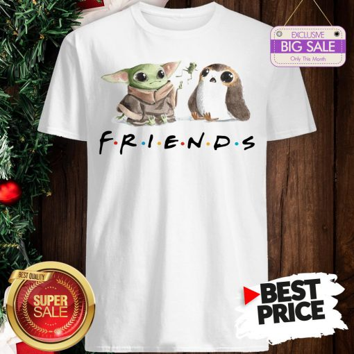 Funny Baby Yoda Frog And Penguin Friends Shirt