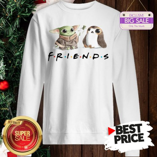 Funny Baby Yoda Frog And Penguin Friends Sweatshirt