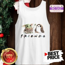 Funny Baby Yoda Frog And Penguin Friends Tank Top