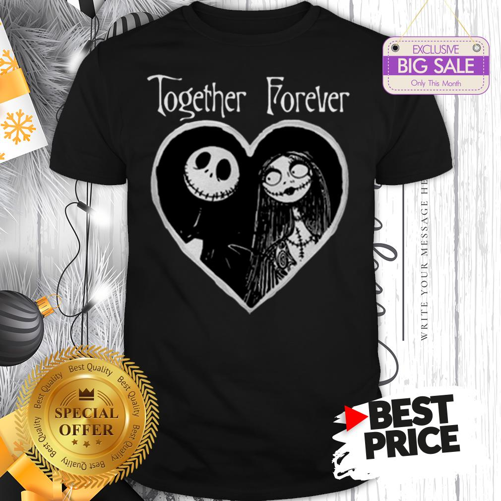 Heart Jack Skellington Love Sally Together Forever Shirt