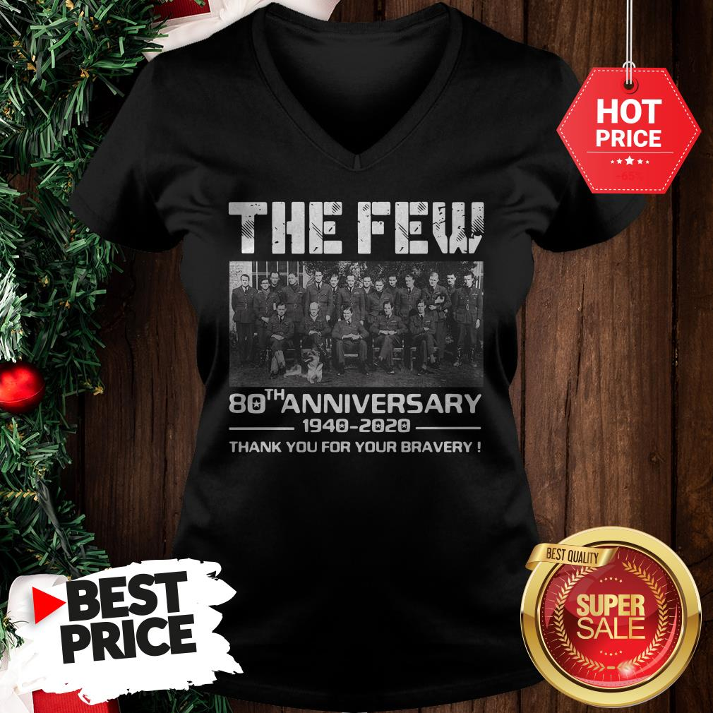 Hot Pretty The Few 80th Anniversary Thank You For The Memories V-Neck