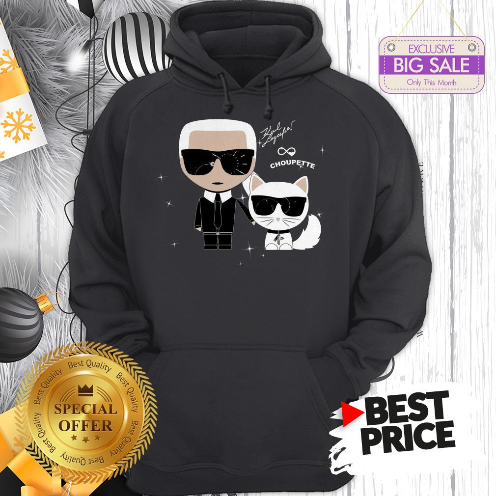 Karl Otto Lagerfeld And Choupette Ikonik Cat A Good Hoodie