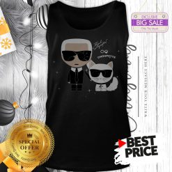 Karl Otto Lagerfeld And Choupette Ikonik Cat A Good Tank Top